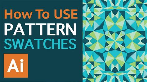 ai apply pattern how to use vector repeat pattern swatches in adobe