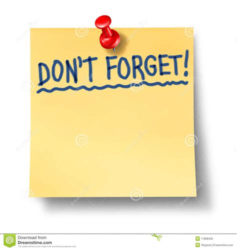 reminder clip royalty free stock image do not forget don t reminder