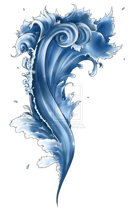 waves tattoo design water by blargberries on deviantart