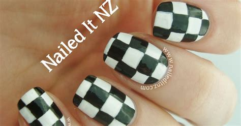 nail art checkered tutorial checkered nail art tutorial bps clothing review