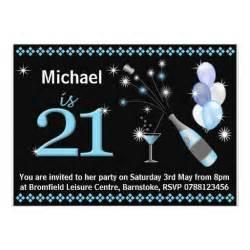 21st birthday invitations black blue 5 quot x 7 quot invitation card zazzle