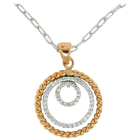gold 3 row circle necklace for sale at 1stdibs