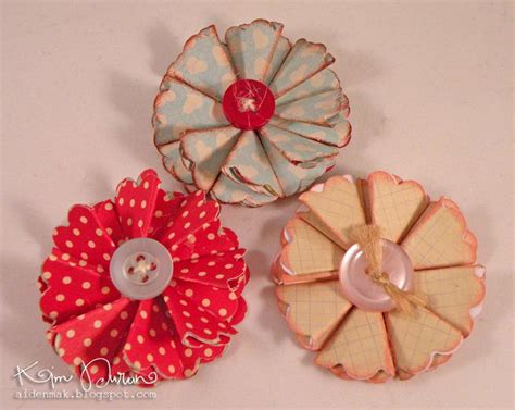 Handmade Flowers Tutorial - 2178 best images about book page crafts on