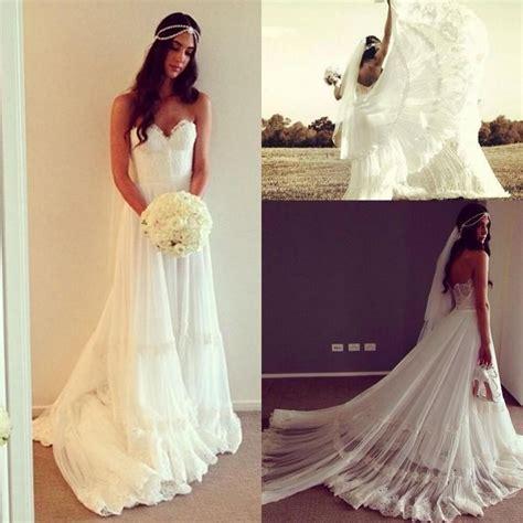Garden Dresses 2015 Graceful 2015 A Line Wedding Dresses Lace Appliques Bridal