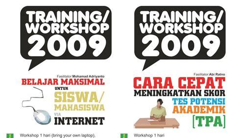 desain brosur acara 10 contoh brosur training desain grafis