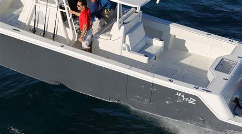 39 sea vee boat test test drive seavee z series fishtrack