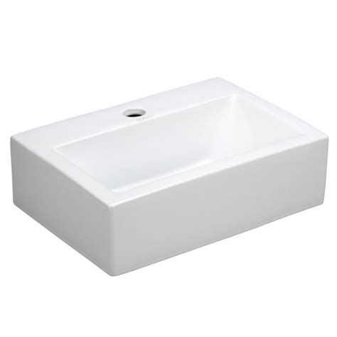 elanti wall mounted rectangle bathroom sink in white ec9859 the home depot