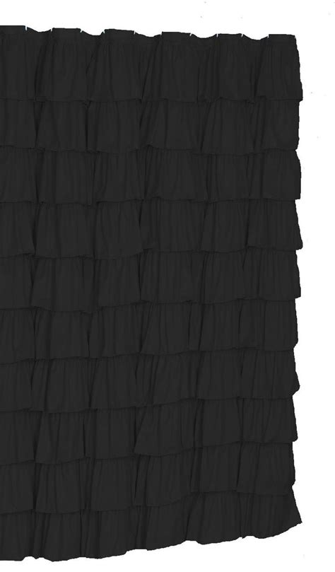 black ruffle curtains 25 best ideas about ruffle shower curtains on pinterest