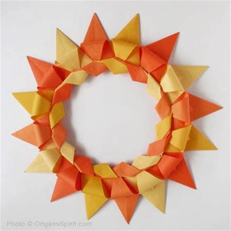 Origami Reef - origami maniacs origami advent wreath by christiane battens