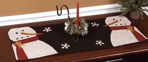 Curtain Valance Christmas Snowman Table Runner