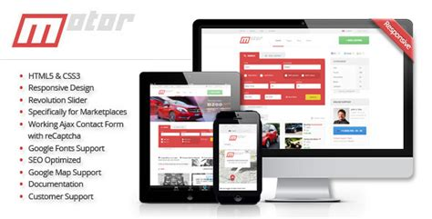 20 Auto Parts Cars Html Website Templates Marketplace Website Template Free