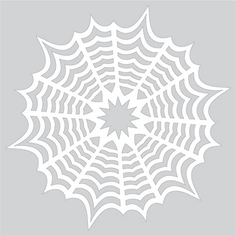 spider web pattern paper how to make paper snowflake with spiderweb pattern to cut
