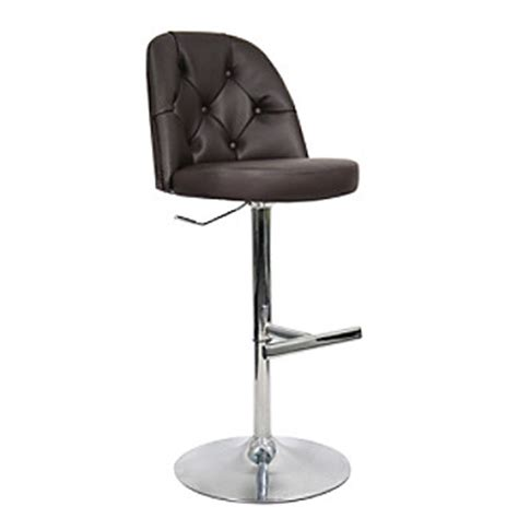 Whalen Brown Adjustable Stool by Swivel Bar Stools In Solid Wood With Leather For Home Bars