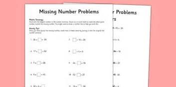 year 5 missing number problems activity sheet worksheet