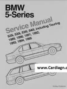 bmw 5 series e34 1989 1995 service manual by robert bentley