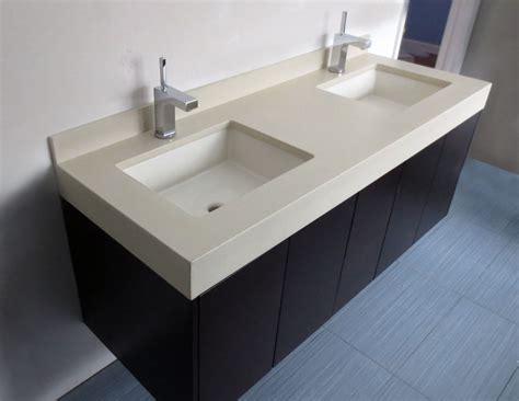 Floating Sinks by Floating Vanity This Vanity Set Up Used A Concrete