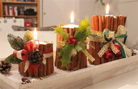 come decorare le candele per natale decorazioni natalizie in the wind