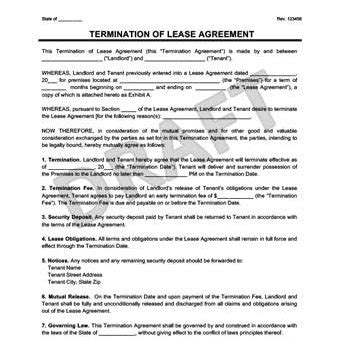 Make A Free Lease Termination Letter In Minutes Legal Templates Termination Of Lease Agreement Template