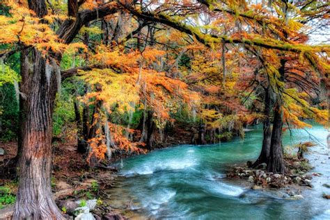 Splashy Water Colour 4 Tx fall color on the guadalupe river nomadic pursuits a