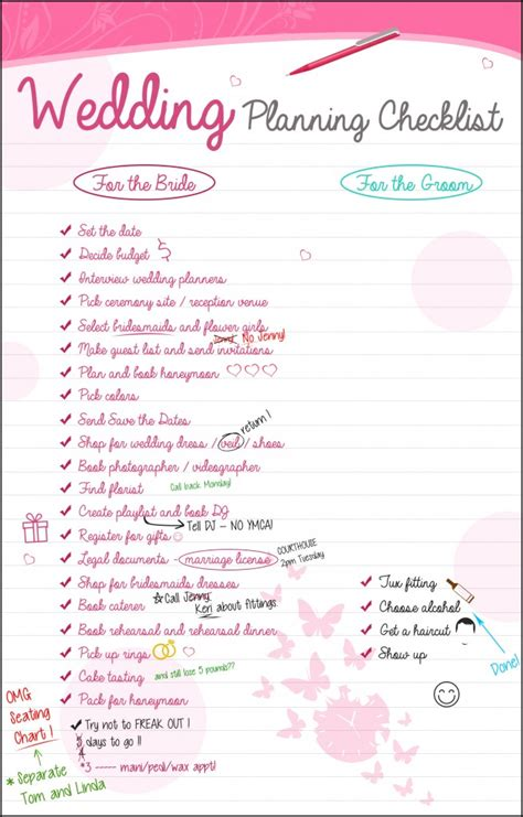 Wedding Planner Needed by Wedding Planning Checklist The Groom Has It So Easy
