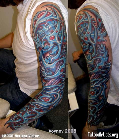 biomechanical tattoos for men left sleeve biomechanical tattoos for