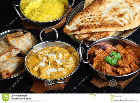 indian curry dinner indian curry meal selection stock image image 17899575