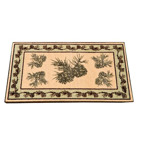 pine cone rug pine cone valley kitchen and bath rug
