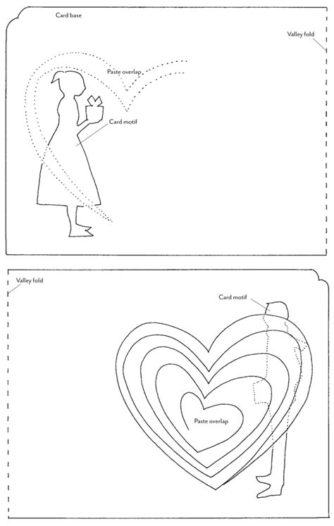 twisting hearts pop up card template how tuesday pop up valentines etsy journal