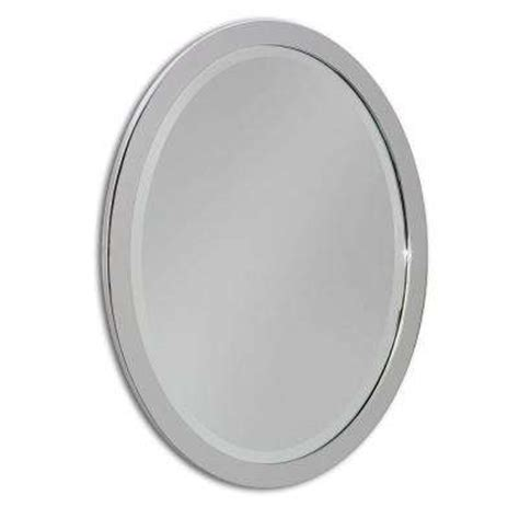 oval framed metal bathroom mirrors bath the home depot