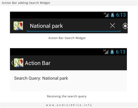 search bar android android working with bar tutorial