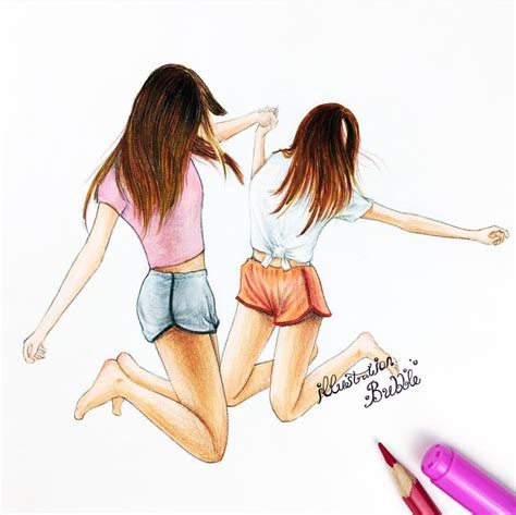 el trio best friens forever pinterest best friends girl bff drawing pics drawings inspiration