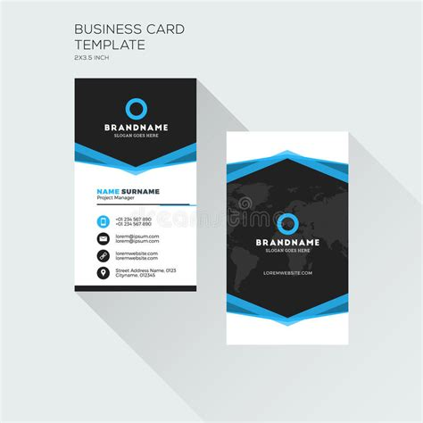 company vertical id card template vertical business card print template personal visiting