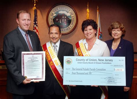 union county honors pulaski parade linden grand marshal