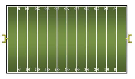 blank football field template math center ideas