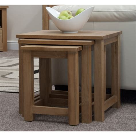 living room furniture boston boston nest of three coffee tables solid oak living room