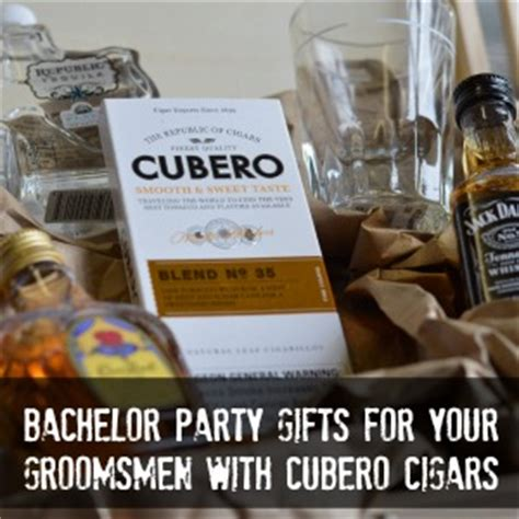 bachelor party gifts for your groomsmen with cubero cigars