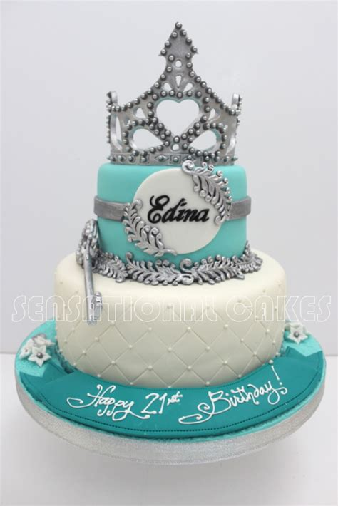 Vintage Design Home Instagram by Cakes2share Singapore Silver Blue 21st Birthday Tiara