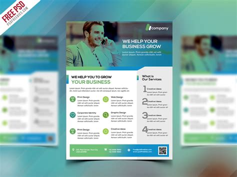 free psd business flyer templates clean business flyer template free psd psd