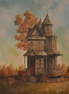 painting of houses 20th century painting of victorian house by gene waggoner