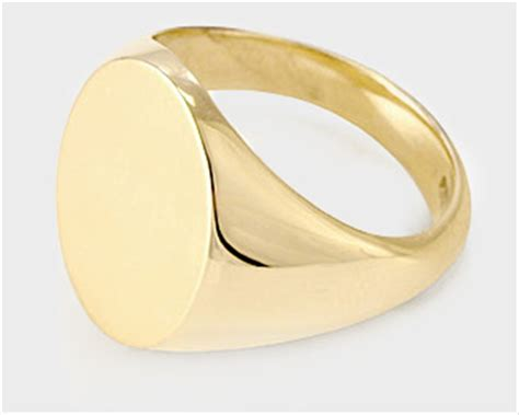 God Smple Ring by Signet Rings Mens Womens Gold Silver