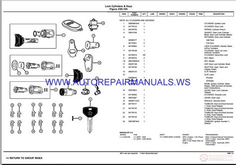 auto manual repair 1997 dodge stratus spare parts catalogs chrysler dodge wrangler tj parts catalog part 2 1997 2006 auto repair manual forum heavy