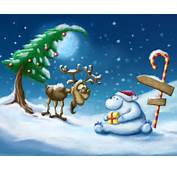 Free Cute Cartoon Bear In Christmas Wallpaper Is A Great For