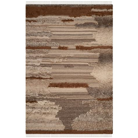 Brown And Gray Area Rug Safavieh Kenya Gray Brown 6 Ft X 9 Ft Area Rug Kny225a 6 The Home Depot