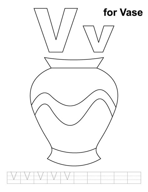 letter v coloring pages az coloring pages