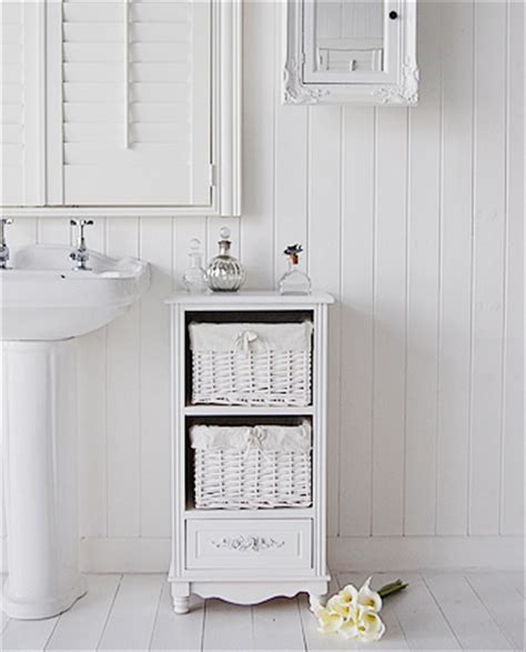 free standing bathroom cabinet white cottage