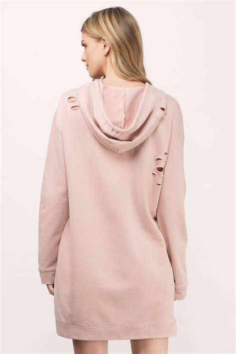 Dress Hodie trendy blush day dress distressed dress day dress
