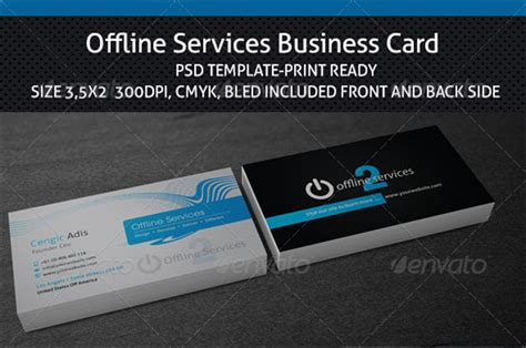 service card template 14 it services business card templates free printable