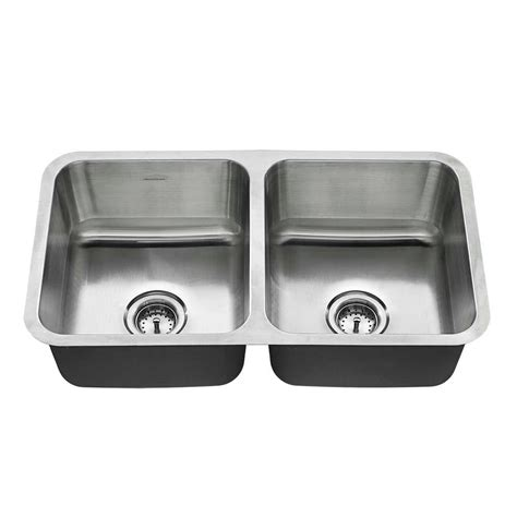 Bowl Undermount Stainless Steel Kitchen Sink by American Standard Undermount Stainless Steel 32 In