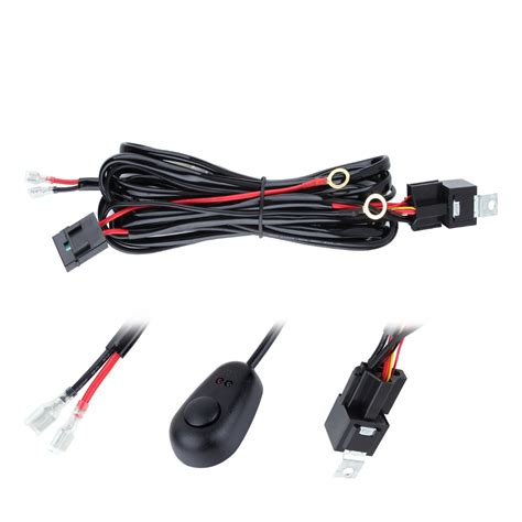Wiring Harness For Led Light Bar 3m 10ft Wiring Harness Kits Offroad Led Light Bar Relay Fuse Toggle Switch Annt