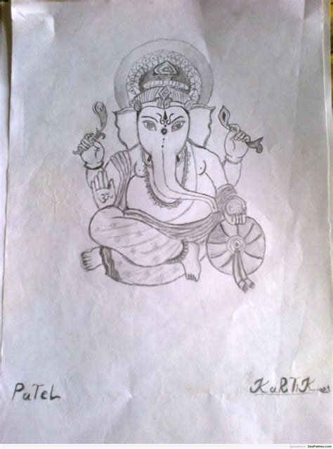 Ganesh Ji Sketches by Pencil Sketches
